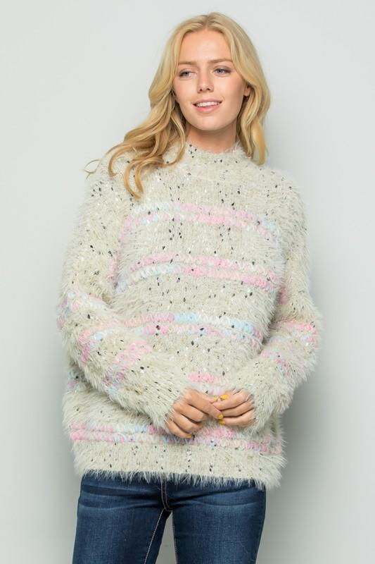 Candyland Multi Eyelash Sweater - Caroline Hill