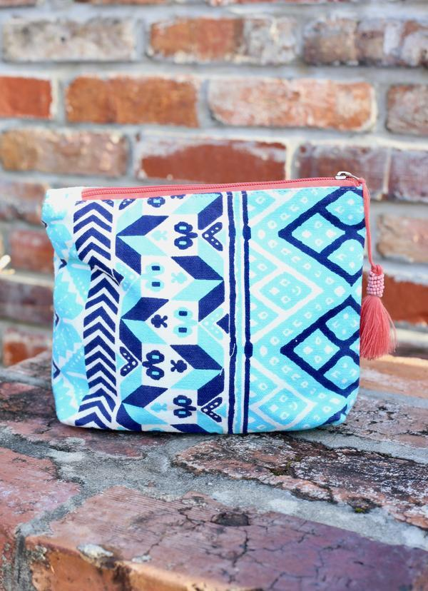 Carnival Cruise Aqua India Cosmetic Bag - Caroline Hill