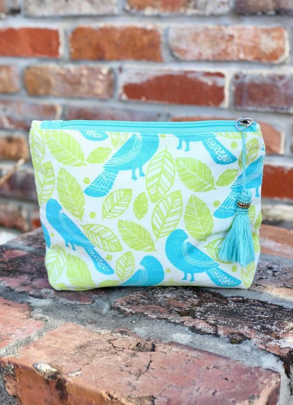 Carnival Cruise Blue Bird Cosmetic Bag - Caroline Hill