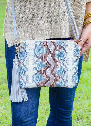 Carol Clutch Snake Sunset Crossbody - Caroline Hill