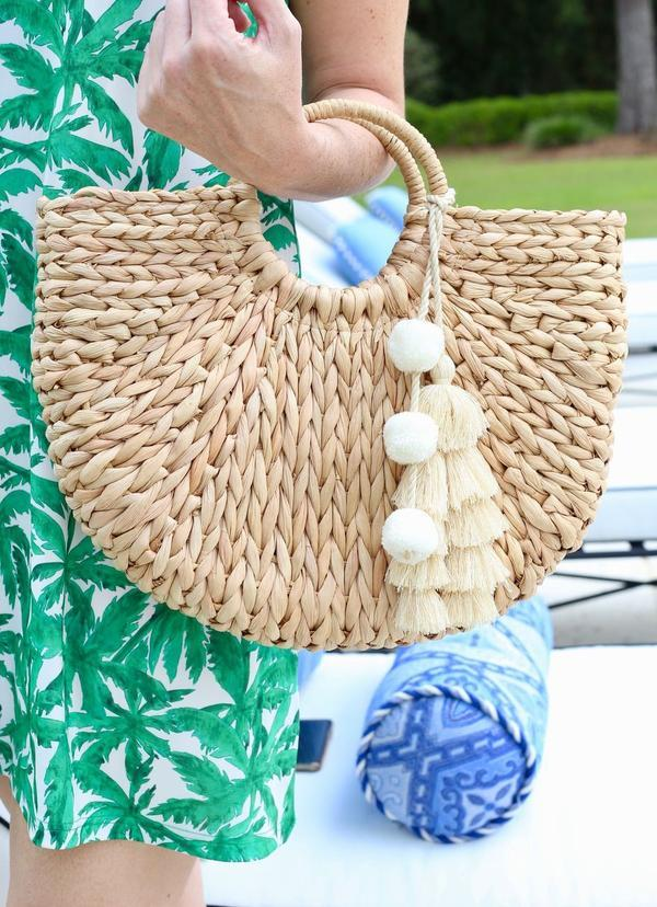 Cat Island Straw Bag With Tassel - Caroline Hill