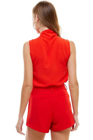 Cha Cha Red Tie Top - Caroline Hill