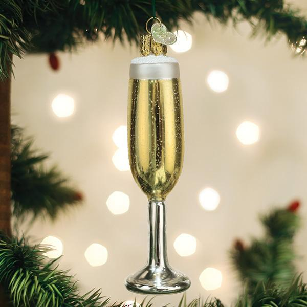 Champagne Flute Old World Ornament - Caroline Hill