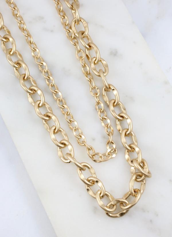 Chantay Layered Link Necklace Gold - Caroline Hill