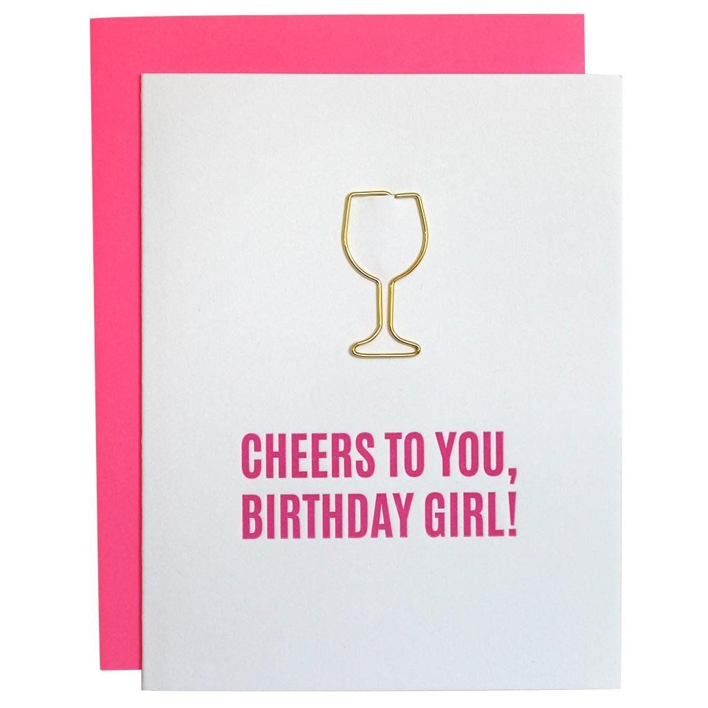 Cheers To You Birthday Girl Card - Caroline Hill