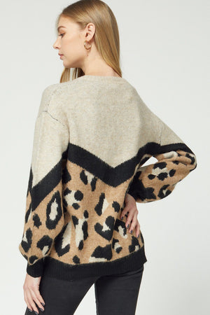 Cheetah Babe Sweater - Caroline Hill