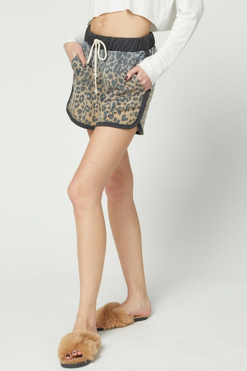 Cheetalicious Charcoal Multi Shorts - Caroline Hill