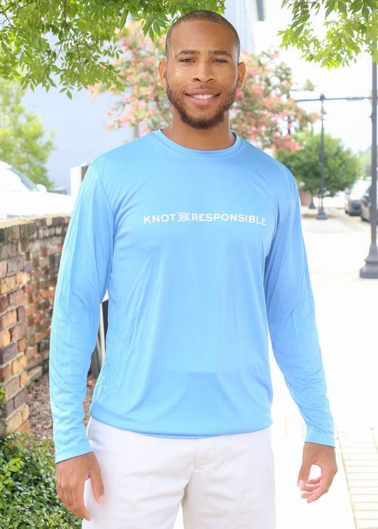Chest Logo Performance Long Sleeve - Carolina Blue - Caroline Hill