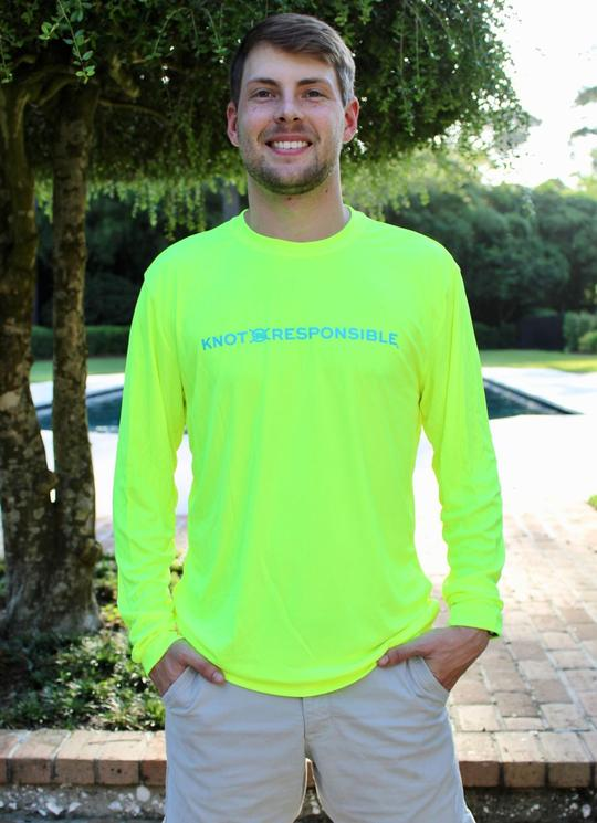 Chest Logo Performance Long Sleeve - Neon Yellow - Caroline Hill