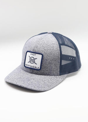 Classic Logo Low Pro Trucker Hat- Navy/ Heather Navy - Caroline Hill