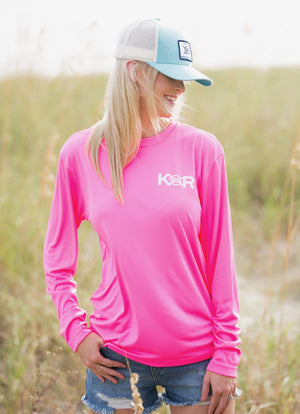 Classic Performance Long Sleeve - Hot Pink - Caroline Hill
