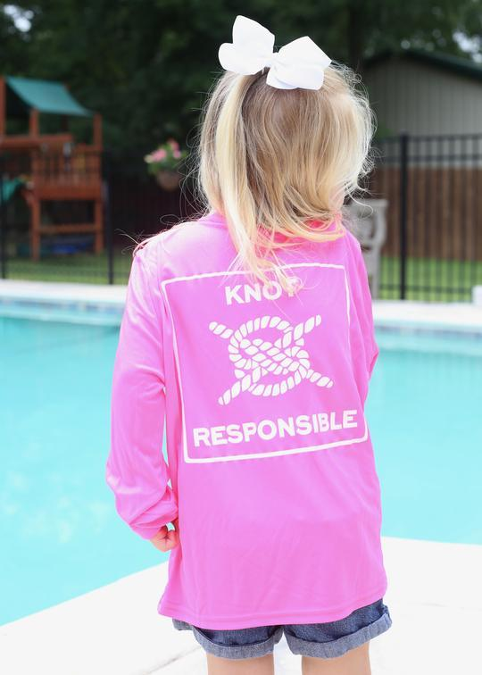 Classic Performance Long Sleeve Kids - Hot Pink - Caroline Hill
