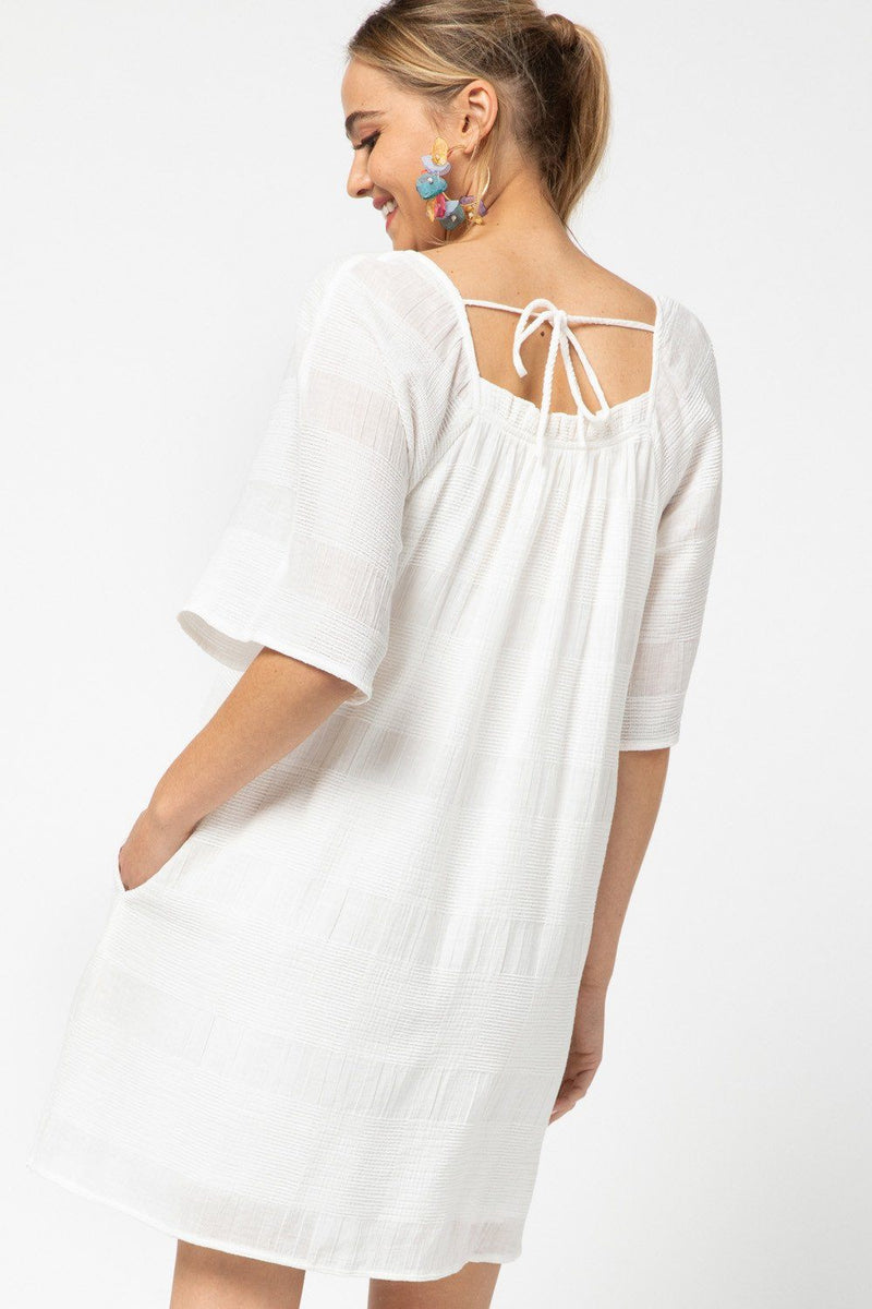 Coastal Breeze White Dress - Caroline Hill