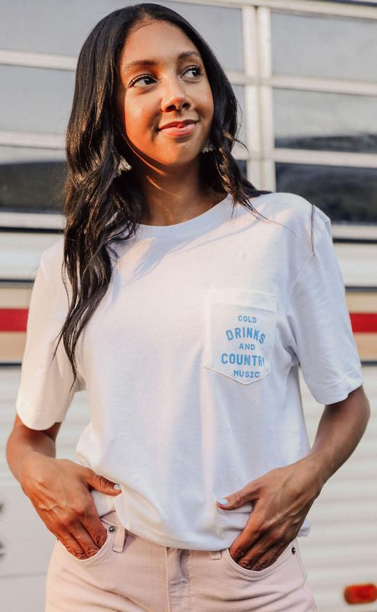 Cold Drinks and Country Music Tee By Charlie Southern - Caroline Hill