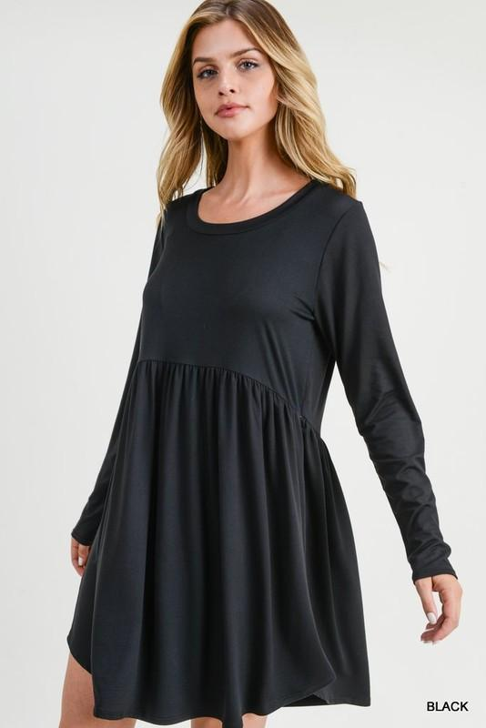 Comfy Little Black Dress/Tunic - Caroline Hill