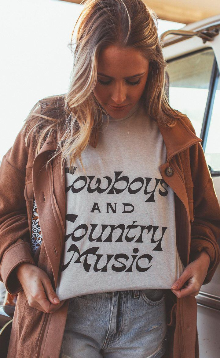Cowboys & Country Music T-Shirt - Caroline Hill