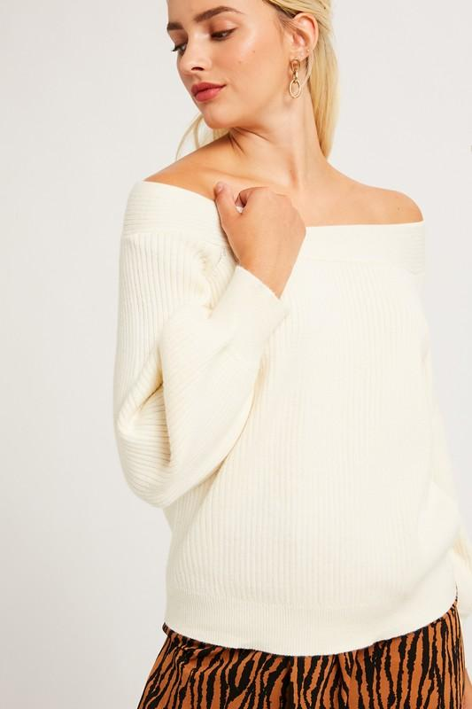 Cream Dreams Bubble Sleeve Sweater - Caroline Hill