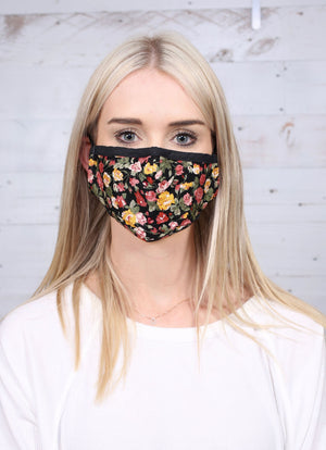 Creed Black Floral Face Mask - Caroline Hill