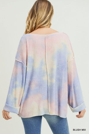 Dancing Forever Blush Tie-Dye Top - Caroline Hill