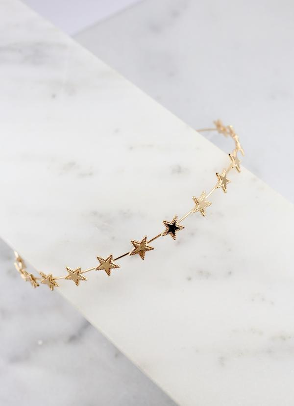 Daryn Star Metal Headband Gold - Caroline Hill