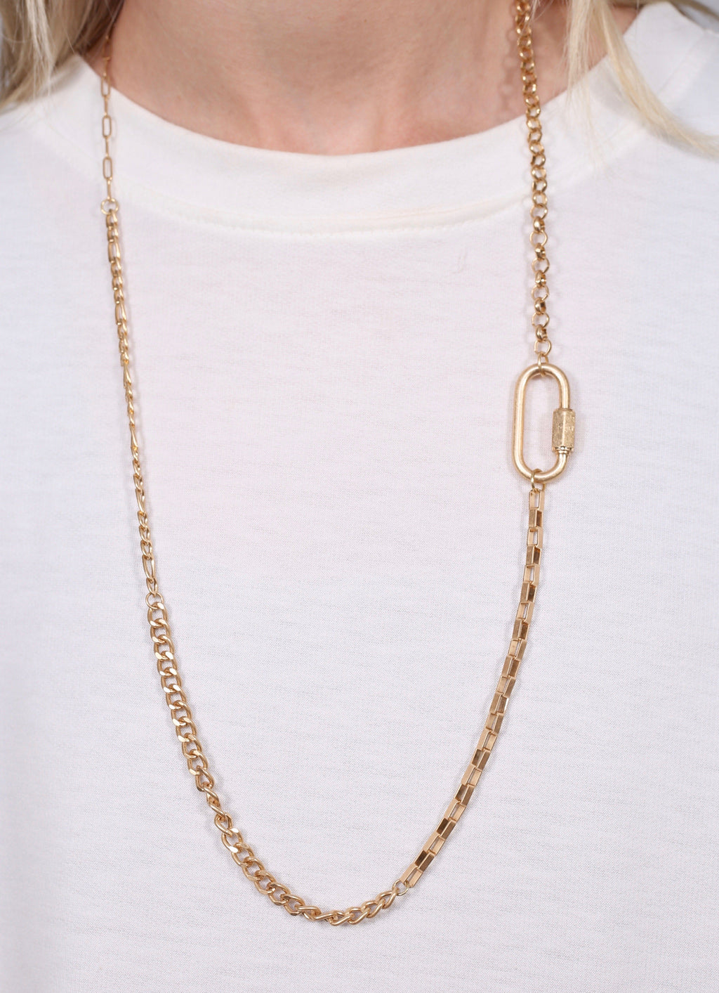 Daveed Mixed Chain Gold Necklace - Caroline Hill