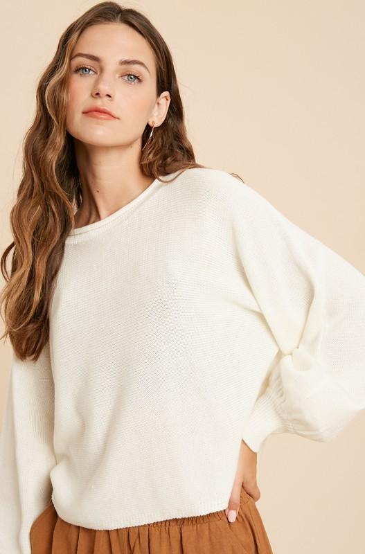 Day Trip Cream Sweater - Caroline Hill
