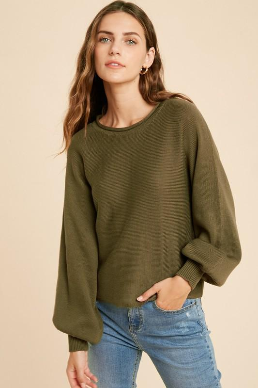 Day Trip Olive Sweater - Caroline Hill
