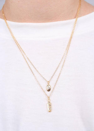 Dessa Double Layer Necklace Gold - Caroline Hill