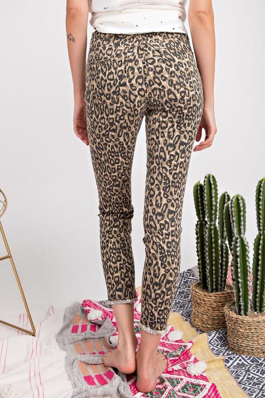 Don't Stop Now Brown Leopard Denim - Caroline Hill