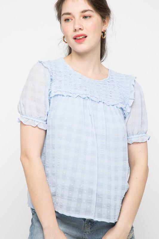 Dorothy Swiss Dot Top - Caroline Hill