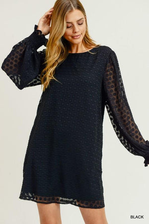 Dot Dot Dot Black Dress - Caroline Hill