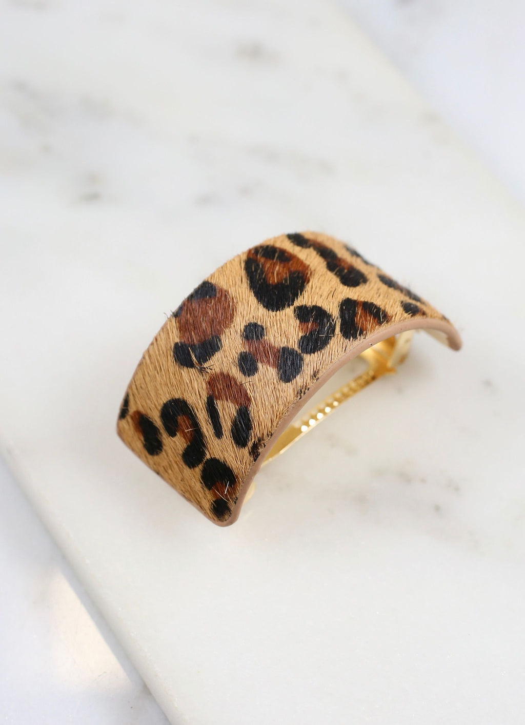 Dowry Animal Print Ponytail Hair Clip Brown Leopard - Caroline Hill