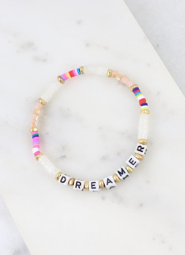 Dreamer Multi Beaded Stretch Bracelet - Caroline Hill