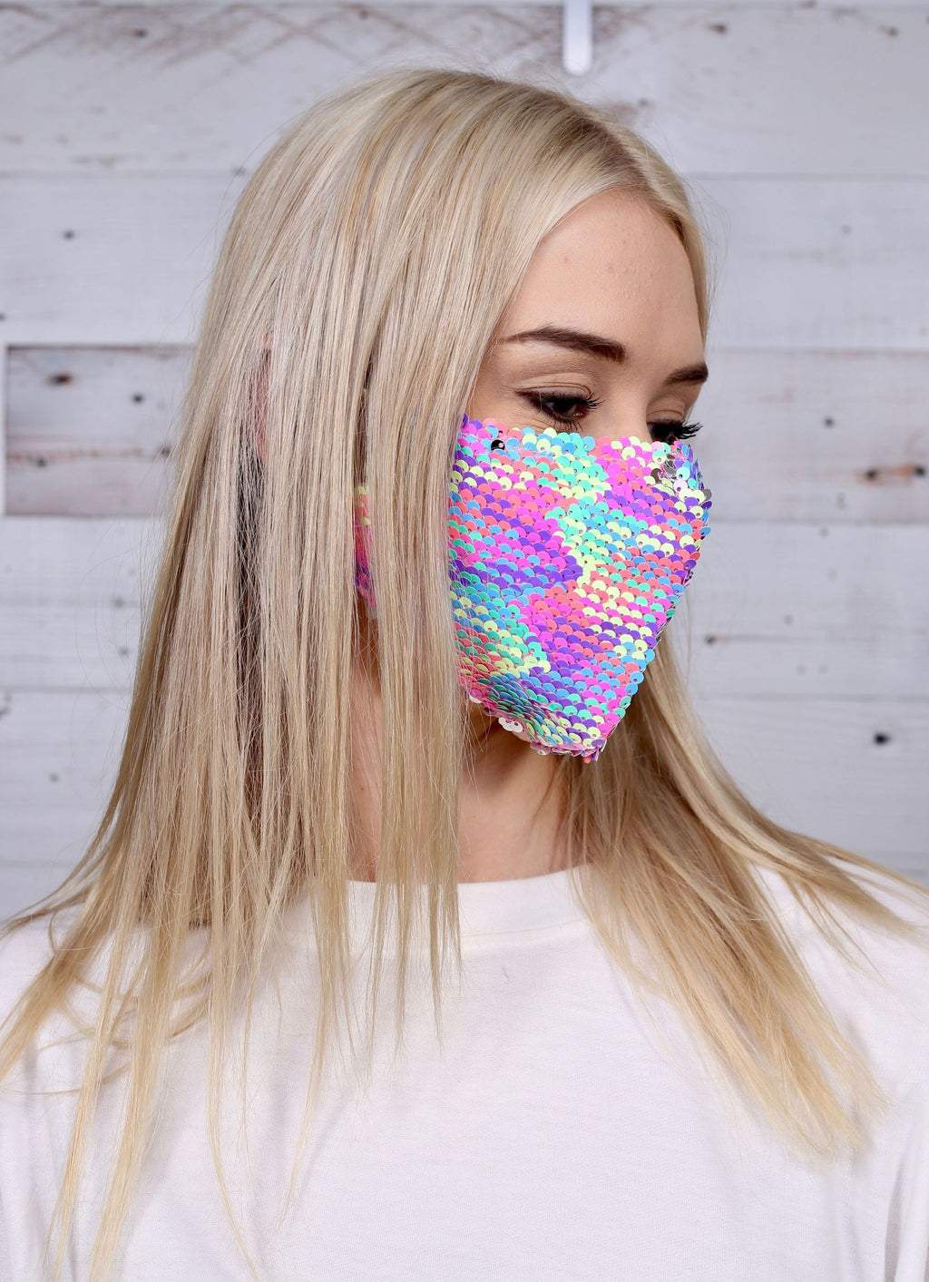 Emory Sequined Reversible Face Mask Multi - Caroline Hill