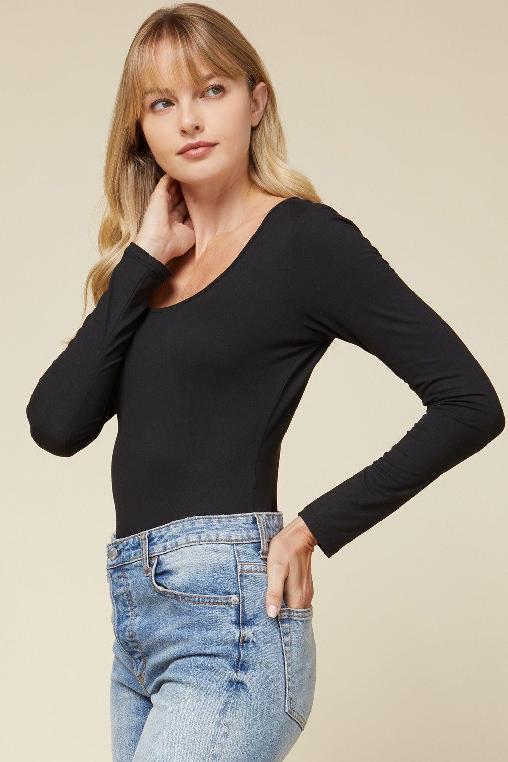 Everyday Basic Black Bodysuit - Caroline Hill