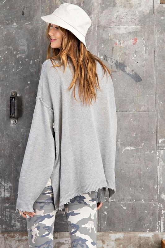 Everyday Comfy Sweater Gray - Caroline Hill
