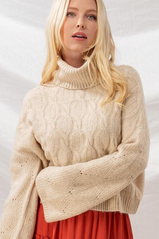Fall Nights Cropped Sweater - Caroline Hill