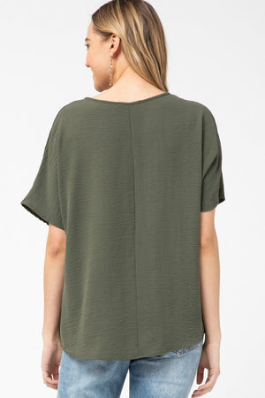 Falling For You Olive Top - Caroline Hill