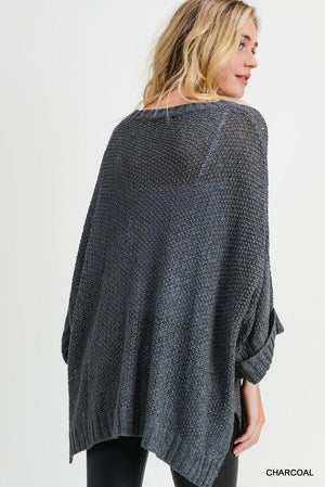 Famous Charcoal Knit Sweater - Caroline Hill