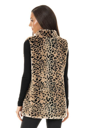 Faux Fur Cheetah Vest By Fabulous Furs- Medium - Caroline Hill