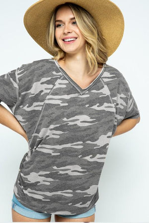 Fifty Shades Gray Camo Tee - Caroline Hill