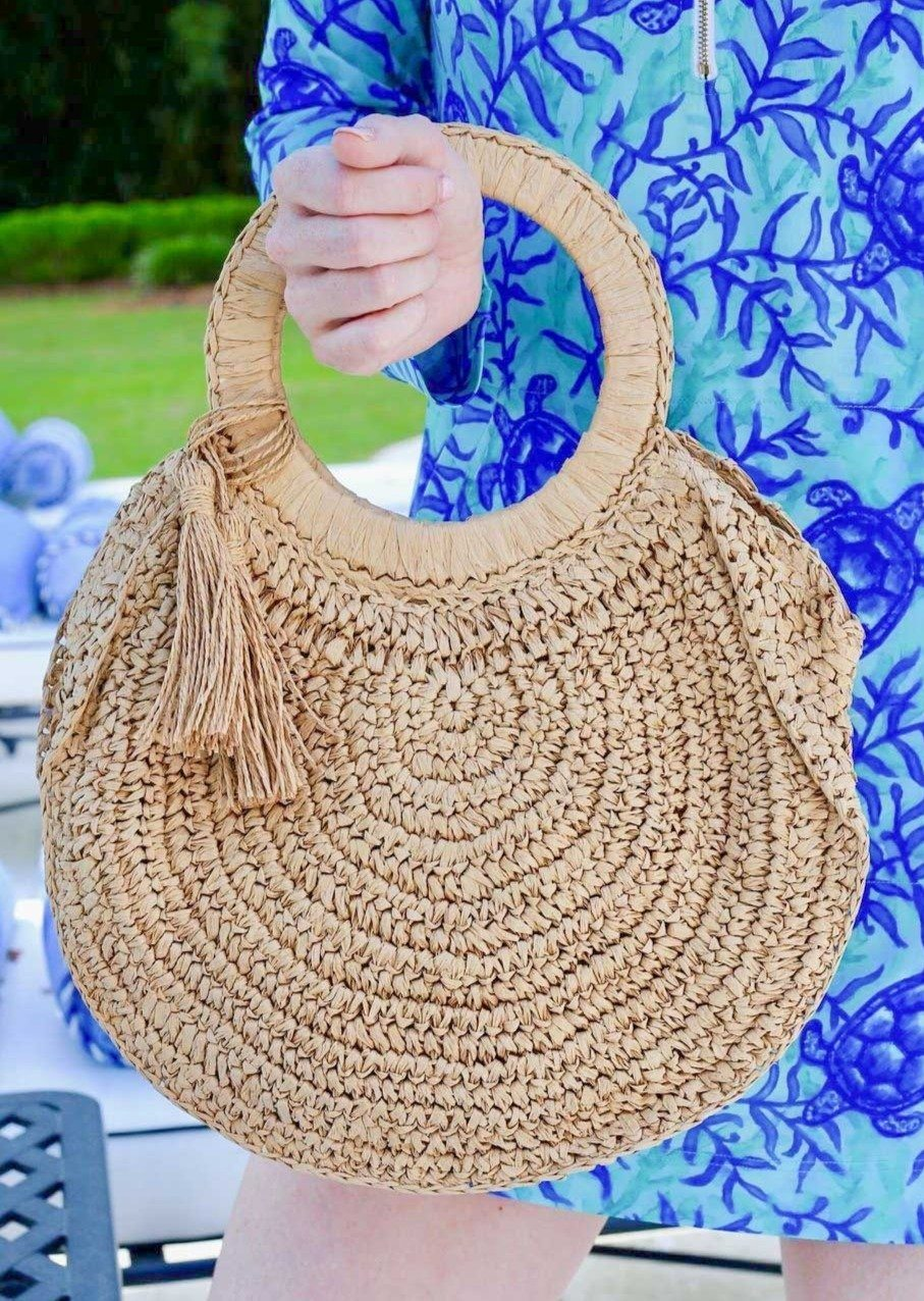 Finley Favorite Straw Bag With Handles - Caroline Hill