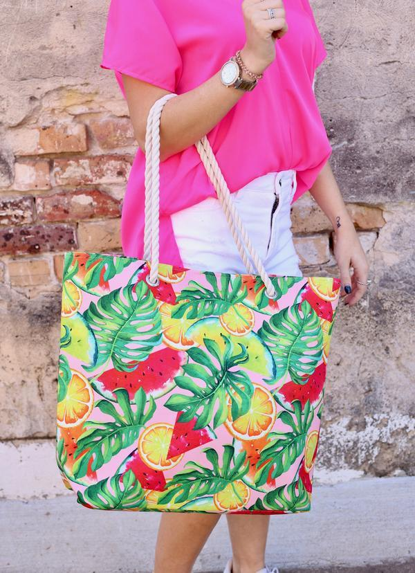Fruit And Palm Multi Tote Bag - Caroline Hill