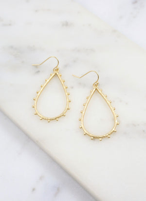 Gianena Matte Gold Earring - Caroline Hill