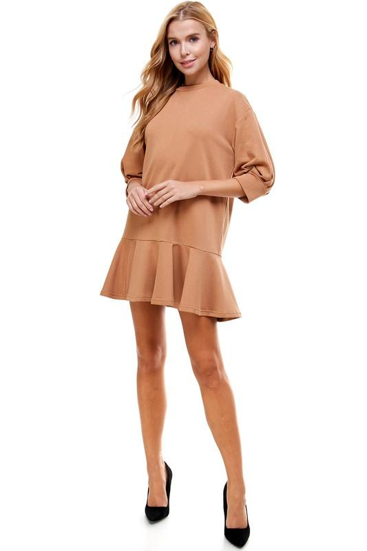 Girl's Night Camel Dress - Caroline Hill