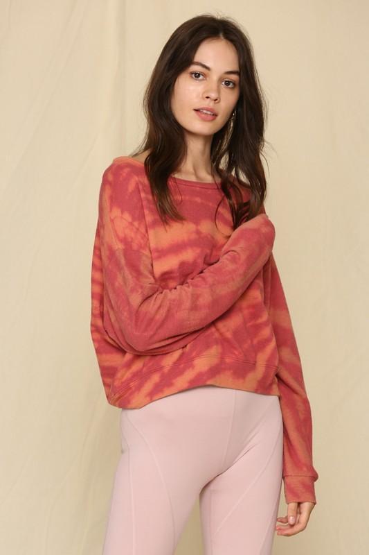 Give Me Something Good Tie-Dye Cropped Top - Caroline Hill