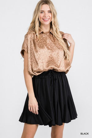 Go With The Flow Black Skort - Caroline Hill