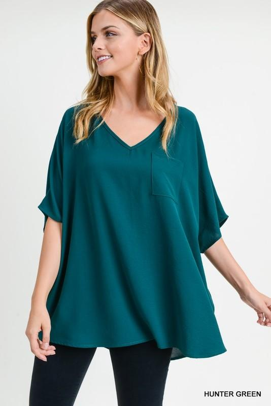 Good Lookin' Basic Hunter Green Top - Caroline Hill