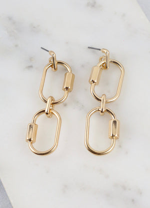 Grayson Chain Link Gold Earring - Caroline Hill