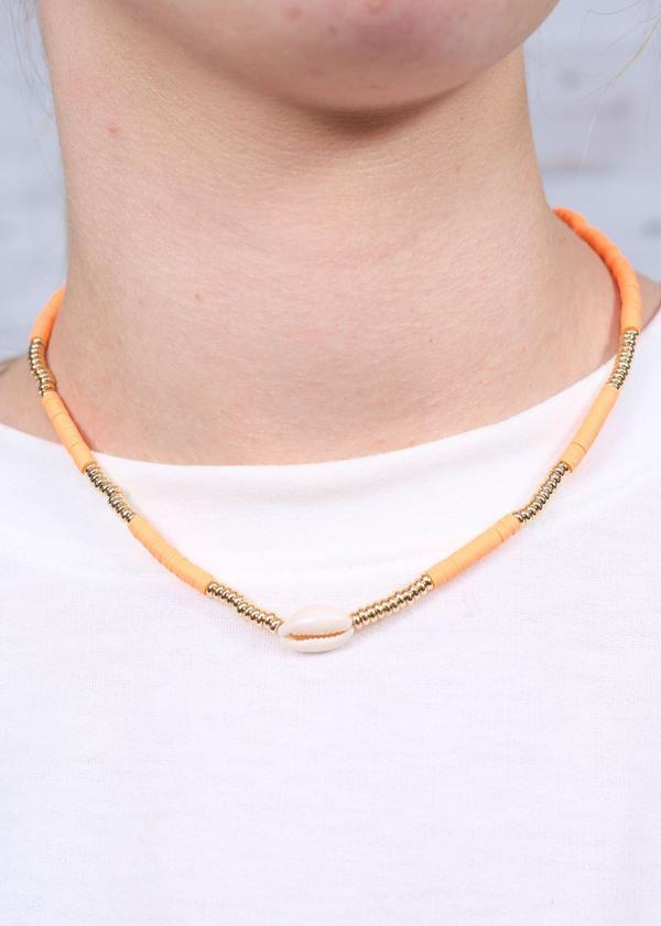 Grayton Necklace Neon Orange - Caroline Hill